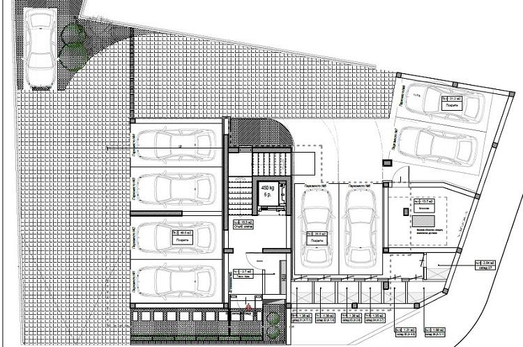 Жилищна сграда с подземни гаражи 21-ви век